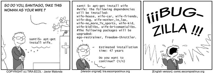 Комикс - установка жены